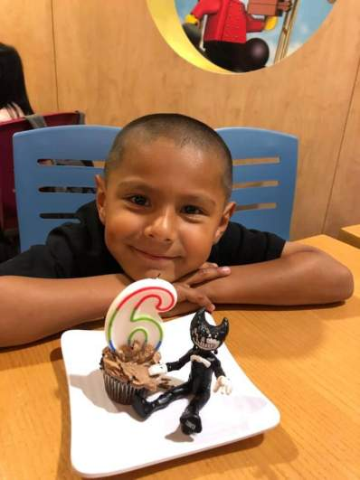 Stephen Romero Celebrating his 6th Birthday